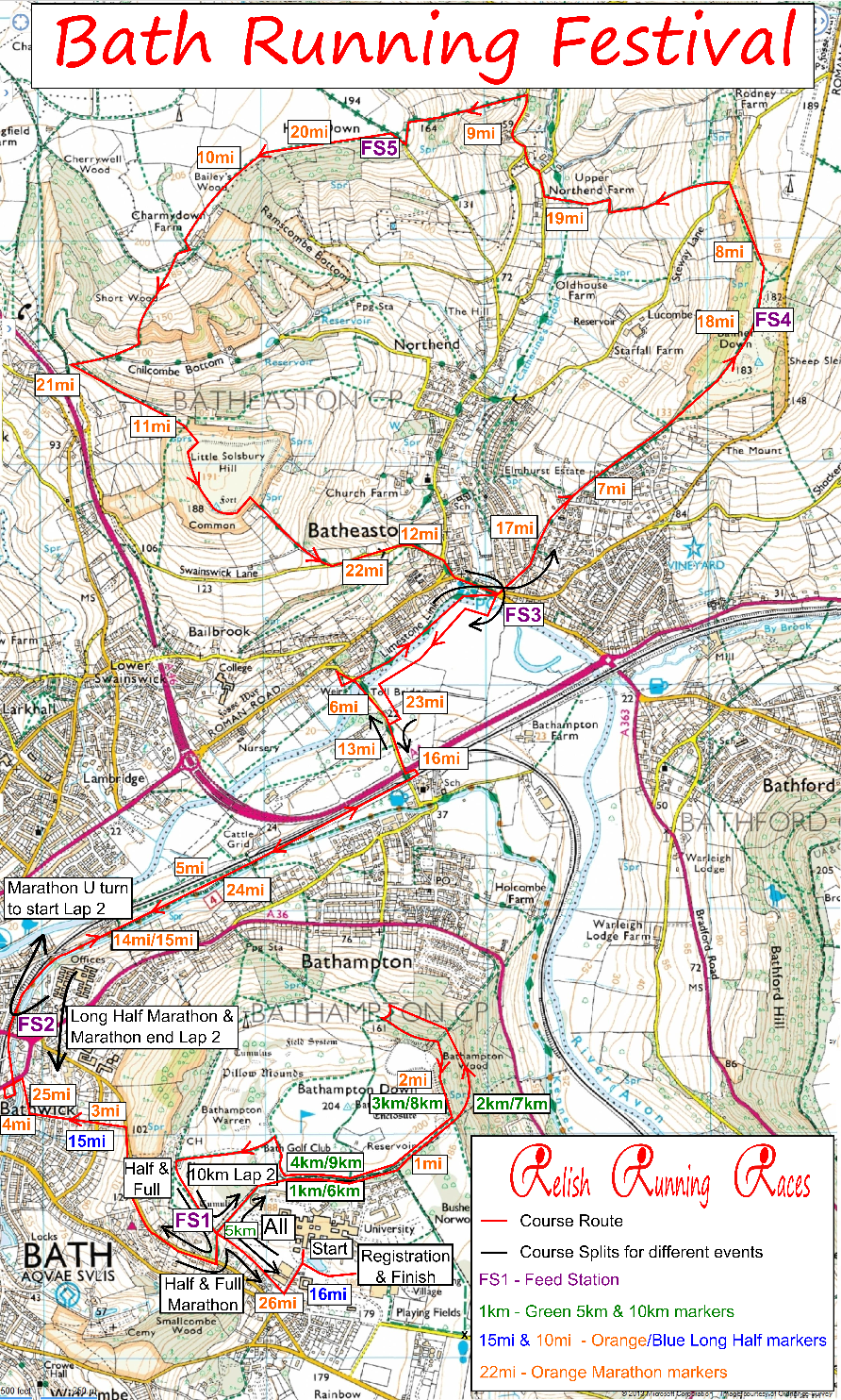 Bath Run Festival Course Map