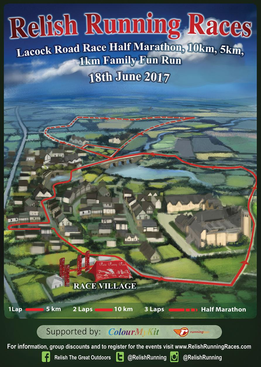 Lacock Road Races Poster