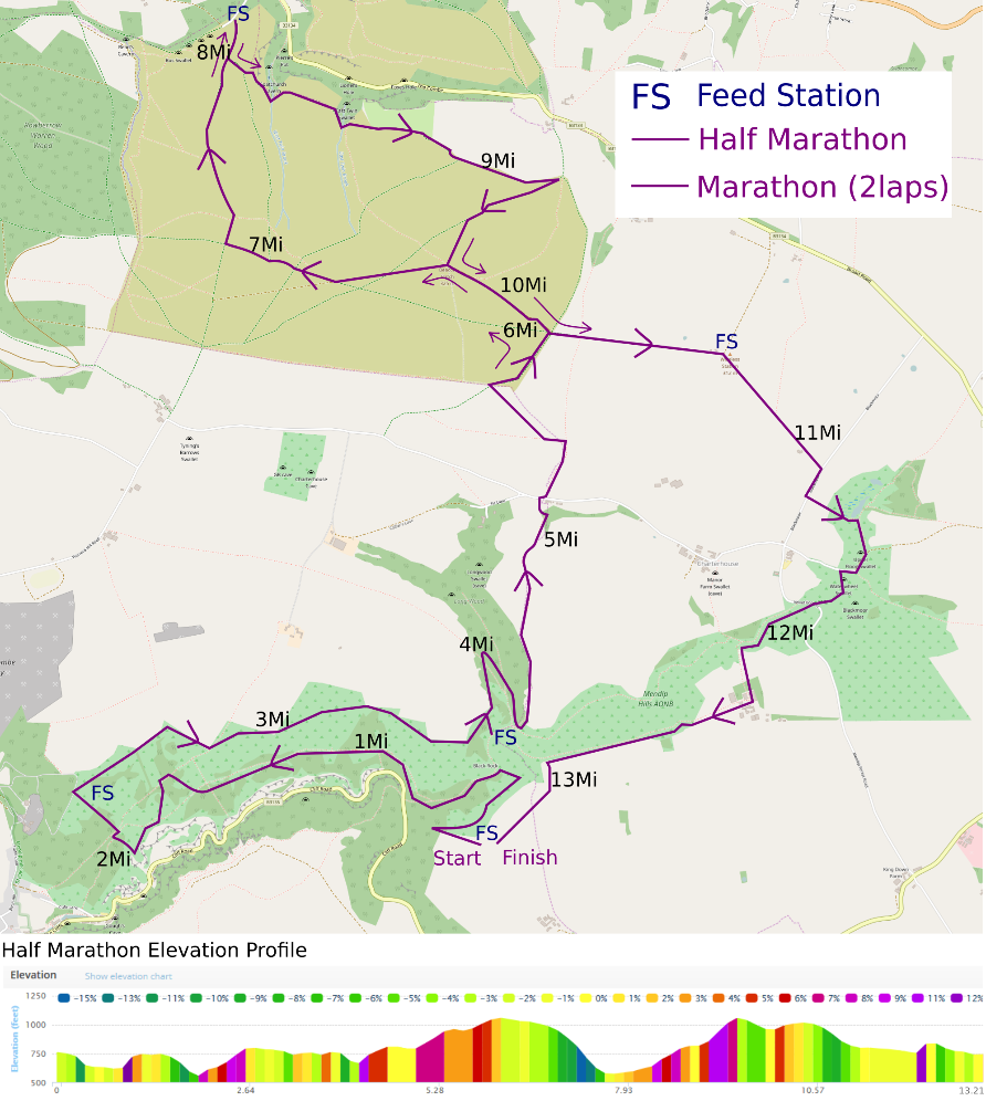 Cheddar Gorge Challenge Route Map